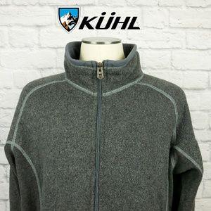 Kuhl Fleece Jacket Zip Up Front Thumb Holes Sz XL